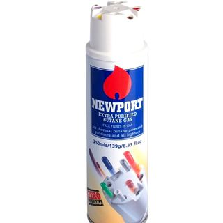 Newport Gas Butane 250ml Refill Can Carton of 12 Cans
