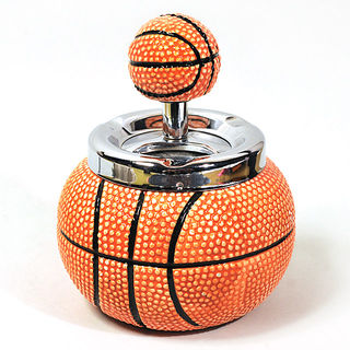 Spinning Ashtray Medium-Round - Basketball 10cm Diameter