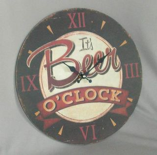 Beer O'Clock Clock (340mm Diameter)