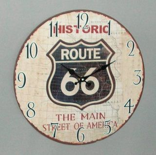 Route 66 Clock (34cm Diameter)