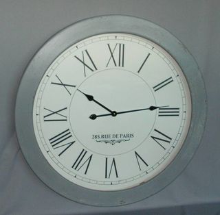 Wood Bezel With Glass Clock