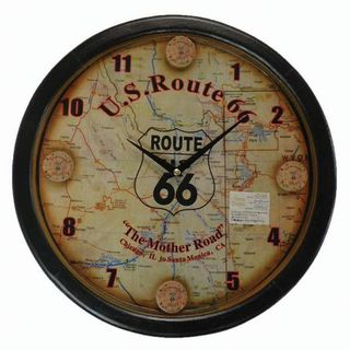 Coyote Wall Clock - Route 66