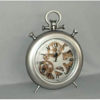 Moving Gears Clock Silver Champs Elysees (28 X 39 cm)